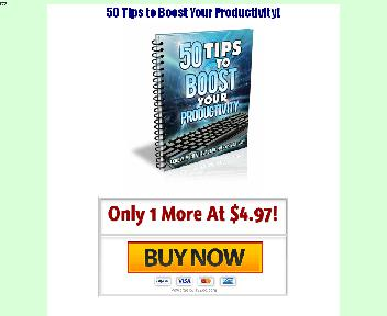 50 Tips to Boost Your Productivity Coupon Codes