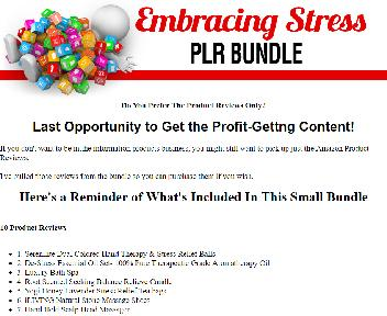 10 PLR Product Reviews for Stress Relief Items Coupon Codes