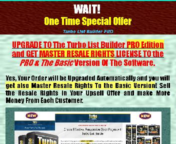 Done for you Turbo List Builder Software Coupon Codes