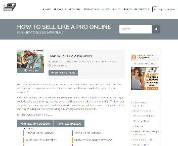 Online Course: Sell Like A Pro Online Coupon Codes