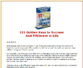 101 Golden Keys to Success  And Flfillment in Li Coupon Codes