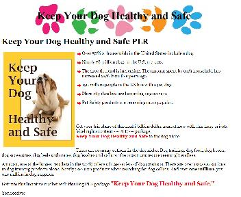 Keep Your Dog Healthy and Safe PLR Coupon Codes