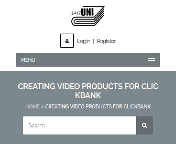 Online Course: Creating Video Products for Clickbank discount code
