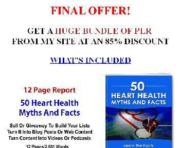 Quality Healthy Diet PLR Multi Pack Coupon Codes