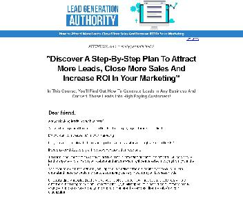 Become An Authority In Lead Generation discount code