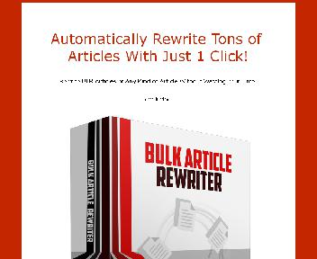 Article Rewriter Coupon Codes
