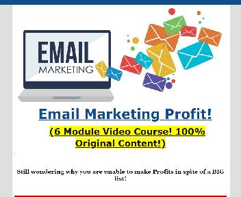 Email Marketing Profit discount code