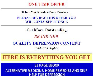 Depression Recovery PLR Coupon Codes