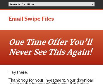 30 Sales & Marketing Email Swipe Files Coupon Codes