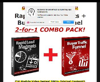 Rapid Lead Magnets + Buyer Traffic Funnel Coupon Codes