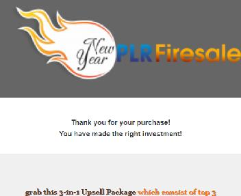 NewYear PLR Firesale Upsell Pack Coupon Codes