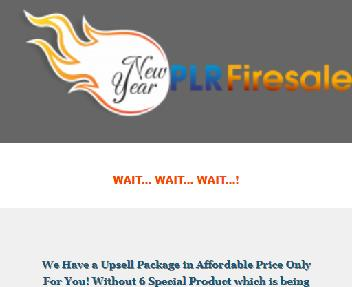 NewYear PLR Firesale Downsell Pack Coupon Codes