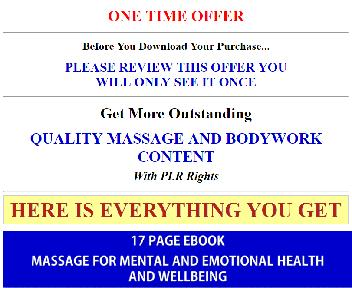 Massage And Body Work Giant PLR Coupon Codes