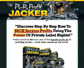 PLR Profit Jacker Video Series With Private Label Rights discount code