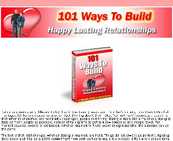 101 Ways to Build Happy Lasting Relationships Coupon Codes