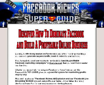 Facebook Riches Super Guide Special Offer discount code