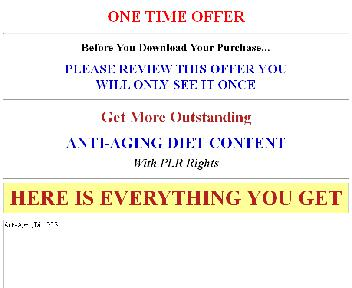 New – Anti Aging Diet Giant PLR (Anti-Age-OTO-Upsell) Coupon Codes