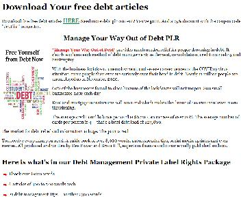 Manage Your Way Out of Debt PLR Coupon Codes