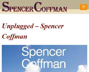 Unplugged CD Album By Spencer Coffman 10 Songs Digital MP3 Coupon Codes