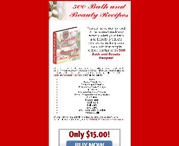 500 Bath and Beauty Recipes Coupon Codes