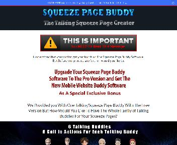 The Squeeze Page Buddy Pro Upgrade discount code