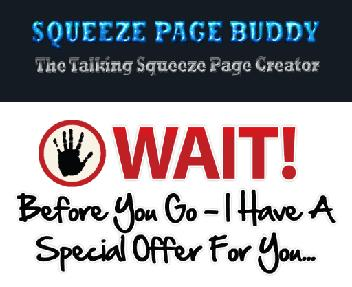 The Squeeze Page Buddy Re-Branding Special Offer discount code