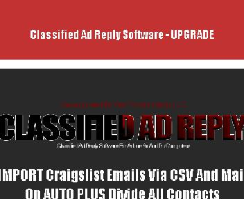 UPGRADE – Classified Ad Reply Software Coupon Codes