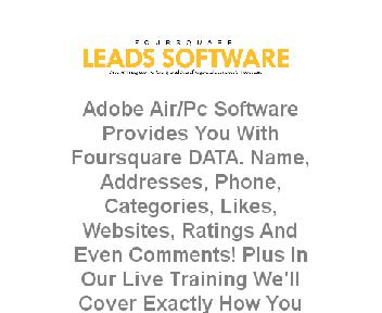Foursquare Leads Software Coupon Codes