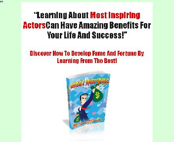 Most Inspiring Actors Comes with Master Resale Rights Coupon Codes