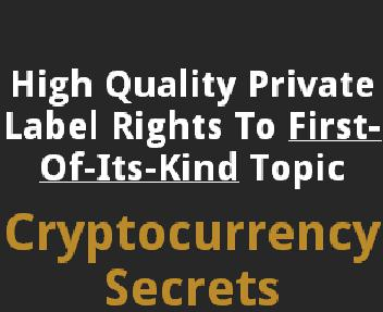 PLRXtreme: Cryptocurrency Secrets discount code