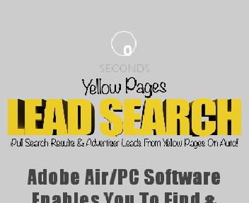Yellow Pages Lead Search Adobe Air/PC Coupon Codes