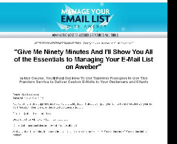 Manage Your E-Mail List with Aweber Coupon Codes