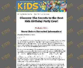 Kids Birthday Parties Coupon Codes