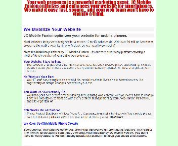 Customized Mobile Phone Websites 6 Month Coupon Codes