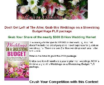 Weddings on A Shoestring Budget Coupon Codes