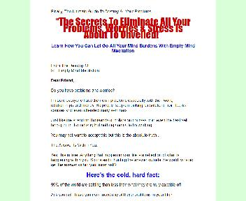 Empty Mind Meditation Comes with Master Resale/Giveaway Rights Coupon Codes