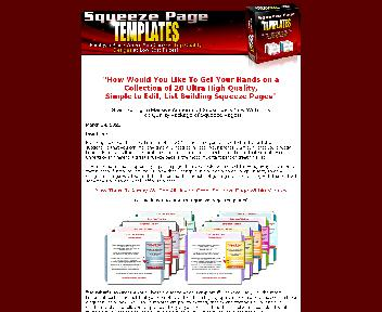 Squeeze Page Templates Coupon Codes