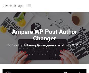 Ampare WP Post Author Changer Coupon Codes