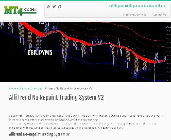 AlliTrend No Repaint Trading System Coupon Codes