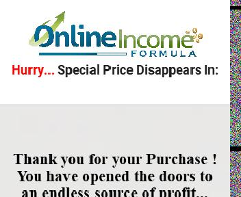 Online Income Formula Upsell Pack With PLR Coupon Codes