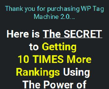WP Tag Machine PRO 2.0 - For Unlimited Sites discount code