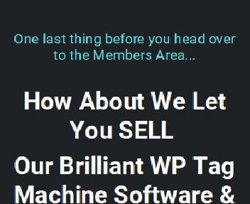 WP Tag Machine 2.0 - Resellers License for Unlimited Sales discount code