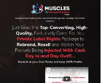 Muscles and Strength Building with PLR Coupon Codes