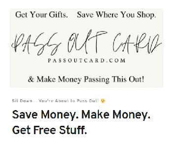 Pass Out Card Coupon Codes