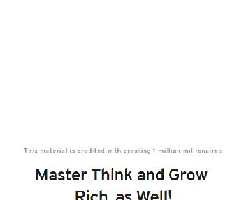Inside Think and Grow Rich Training Coupon Codes
