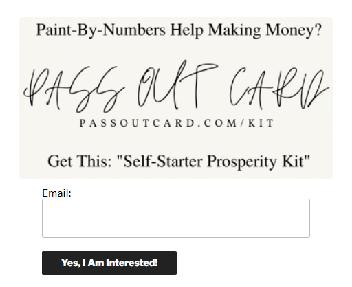 Pass Out Card Self-Starter Prosperity Kit Coupon Codes