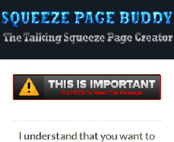 Squeeze Page Buddy Pro Special discount code