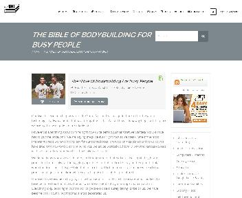 Online course: The Bible Of Bodybuilding For Busy People Coupon Codes