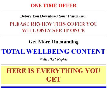 Complete and Total Wellbeing In The New Year Part 2 Giant PLR Coupon Codes