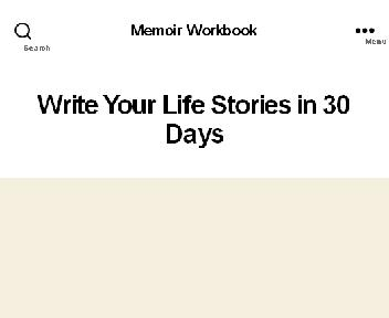 Write Your Life Stories in 30 Days Workbook discount code